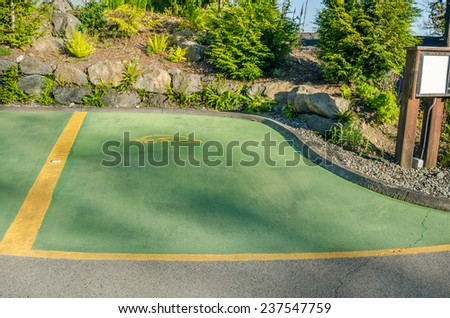 Parking Space for Electric Vehicles - stock photo