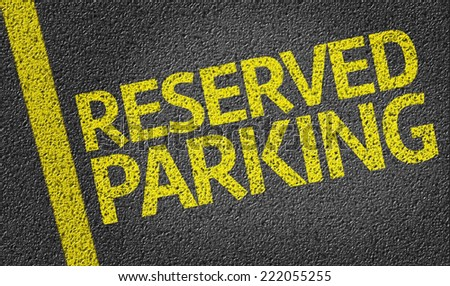 Parking space reserved for Reserved shoppers in a retail parking lot - stock photo