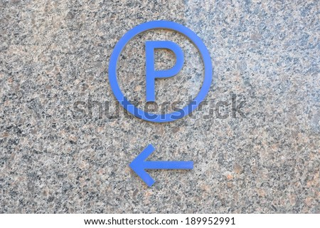 Parking space signage - stock photo