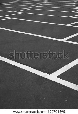 Parking space with lines - stock photo