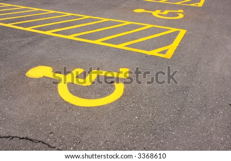Parking spaces for the handicapped. Ottawa, Ontario. Canada.