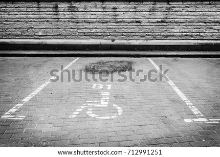 Parking spot for the disabled