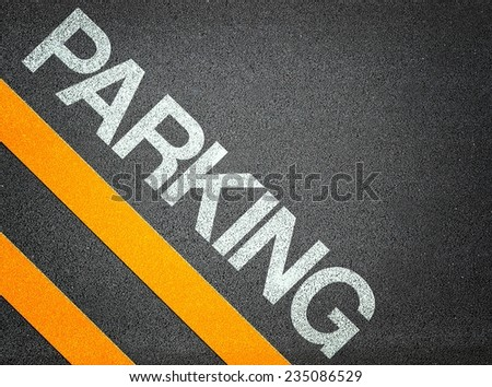 Parking Text Writing Road Asphalt Word Floor Ground