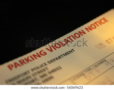 Parking Violation - stock photo