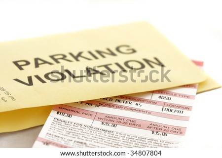 Parking violation ticket - stock photo
