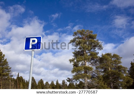 parkingsign - stock photo