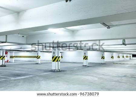 parkint lot - stock photo