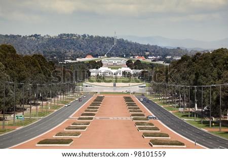 parlament house Australia - stock photo