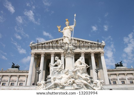 parlament in Vienna - stock photo