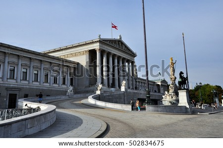 Parliament building in Vienna, Austria