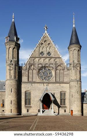 Parliament Buildings, Ridderzaal, Binnenhof, Den Haag, The Netherlands - stock photo