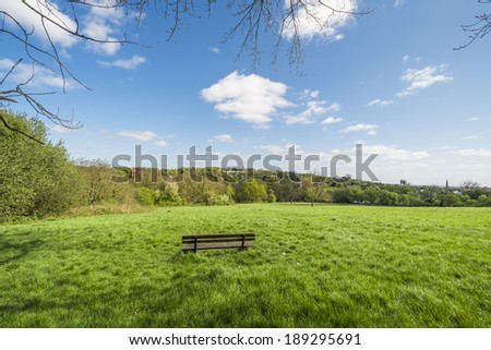 Parliament Hill in Hampstead Heath park, London, England, UK  - stock photo