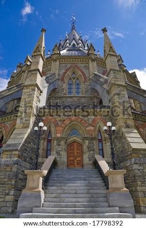 Parliament Hill library, Ottawa, Canada - stock photo