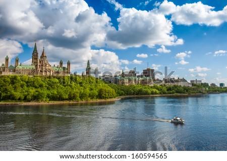 Parliament Hill, Ottawa, Ontario, Canada - stock photo