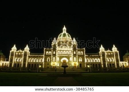 Parliament House of Victoria B.C. Canada - stock photo