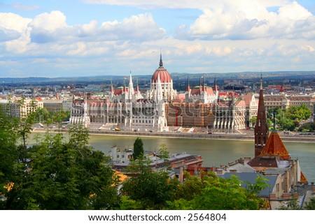 Parliament - Hungary, Budapest; Autumn - stock photo