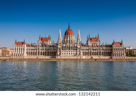 Parliament in Budapest, Hungary - stock photo