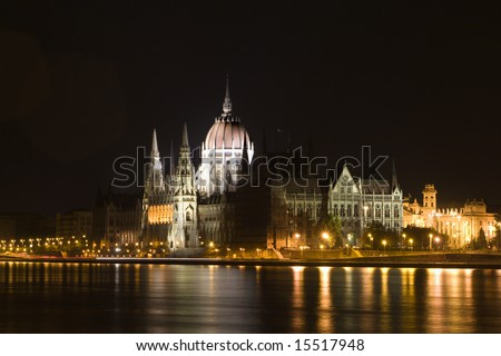 parliament in Budapest - night