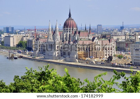 Parliament of Budapest, Hungary - stock photo