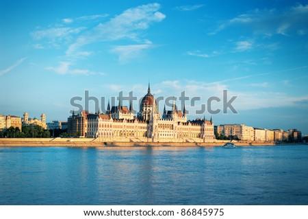 Parliament of Hungary - stock photo