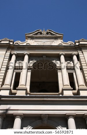Parliament of Queensland in Brisbane, Australia. Old architecture. - stock photo