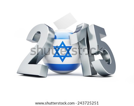 parliamentary elections in israel on a white background   - stock photo