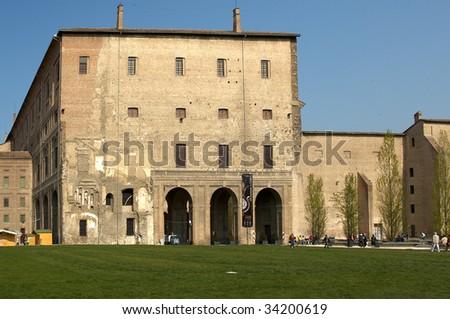 Parma,Emilia Romagna,Italy,the Palace of Pilotta, 1583-1622 - stock photo
