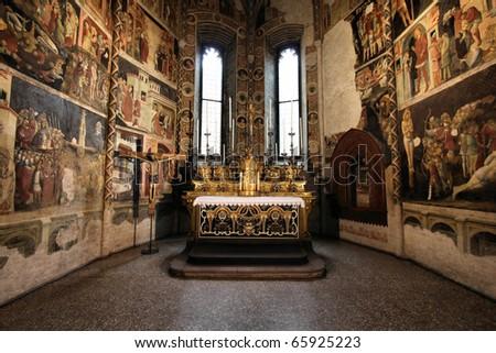 Parma, Italy - Emilia-Romagna region. Cathedral interior. - stock photo
