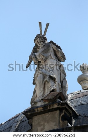 PARMA, ITALY - MAY 01, 2014: Statue of Saint. Basilica Santa Maria della Steccata. Basilica is a Marian shrine made in Parma between 1521 and 1539 and in 2008 elevated to the rank of minor basilica  - stock photo