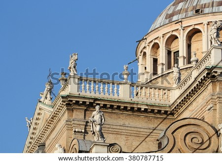 PARMA, ITALY - SEPTEMBER 28, 2015: Basilica Santa Maria della Steccata. Basilica is a Marian shrine made in Parma between 1521 and 1539 and in 2008 elevated to the rank of minor basilica