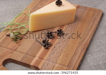 parmesan cheese is one of the world's most famous and delicious cheeses - stock photo