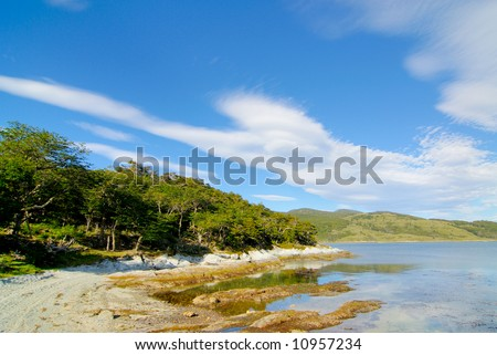 Parque Nacional Tierra del Fuego - stock photo