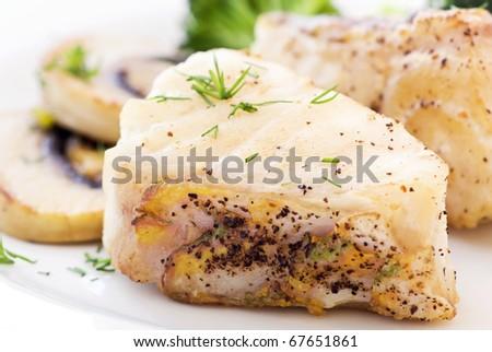 Parrot Fish Steak - stock photo