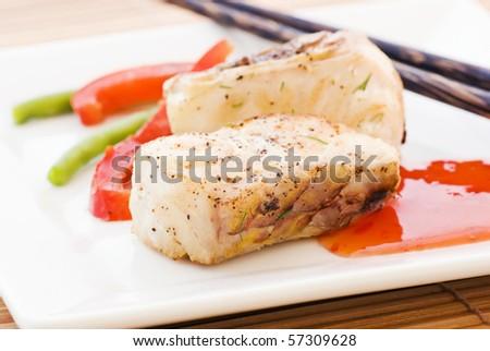Parrot Fish Sweet Sour - stock photo