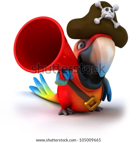 Parrot pirate - stock photo
