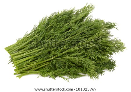 Parsley on a white background