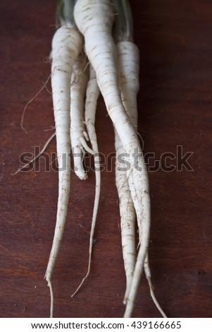 parsley root - stock photo