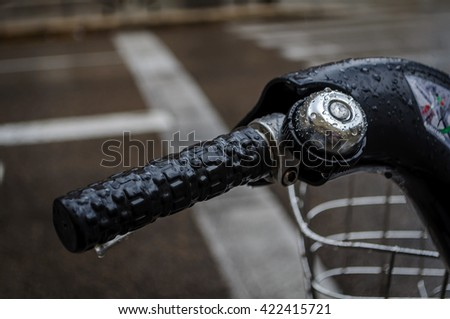 part of a bike with drops, closeup