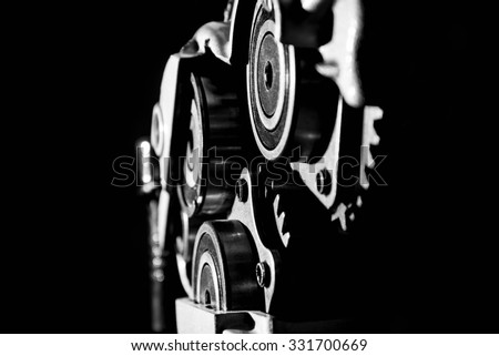 Part of a car engine close up - stock photo