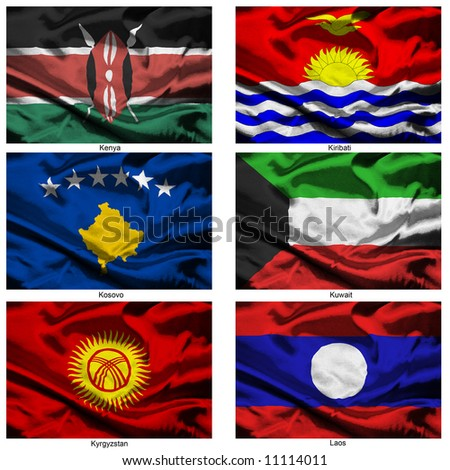Part of a collection of the fabric flags of the world series - stock photo