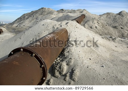 Part of a deactivated buried pipeline.