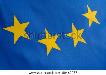 Part of a european flag - stock photo