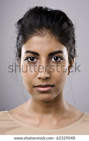 Part of a 100 faces collection. Highly detailed portraits (see portfolio for more) - stock photo