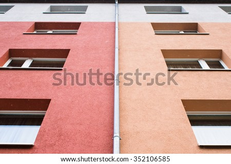 Part of a modern apartment building in Berlin. - stock photo