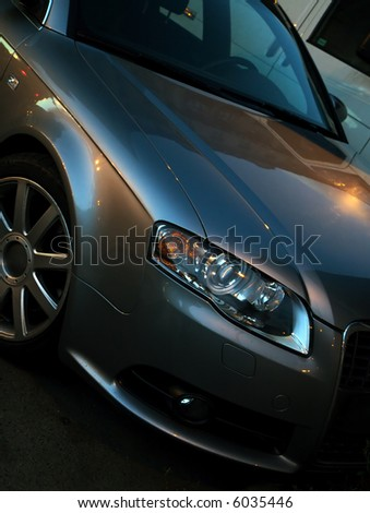Part of a modern car - stock photo