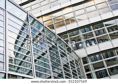 Part of a modern office building in Germany - stock photo