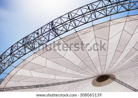 part of a modern roof - entertainment tent