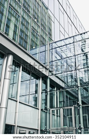 Part of a modern urban building in Germany - stock photo
