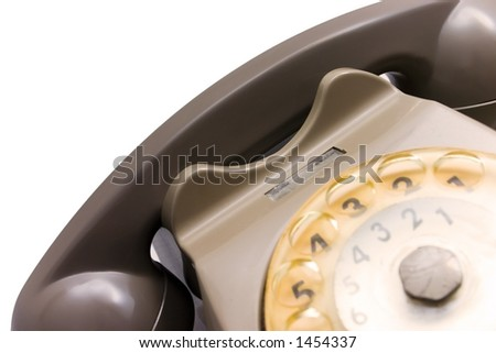Part of a old rotary phone - stock photo