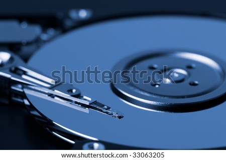 Part of a open hard-disk drive